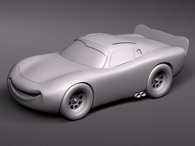 mcqueen cars 3d model turbosquid wireframe