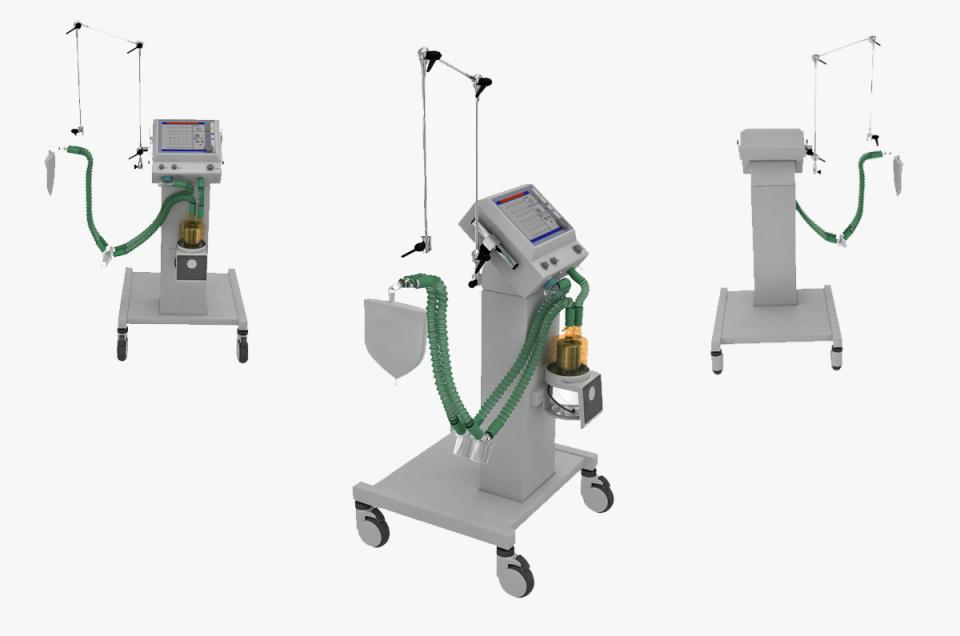 medical respirator Shangrila 520 3d model turbosquid