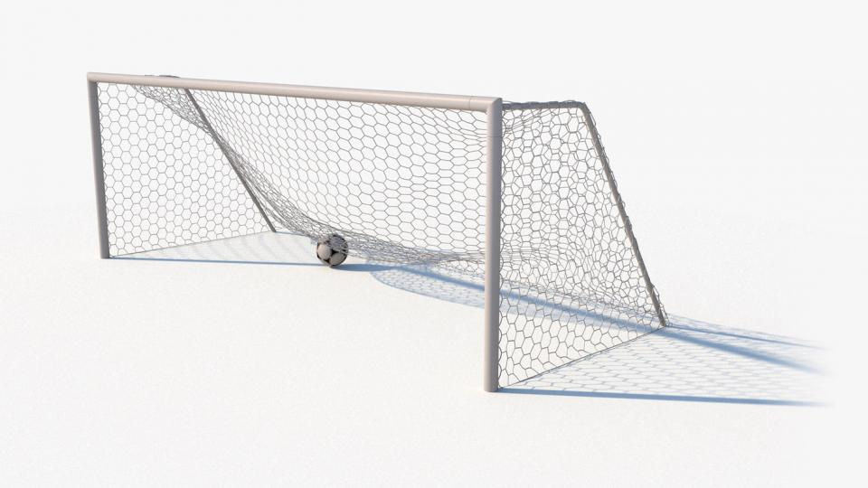 soccer net still with ball 3d model turbosquid
