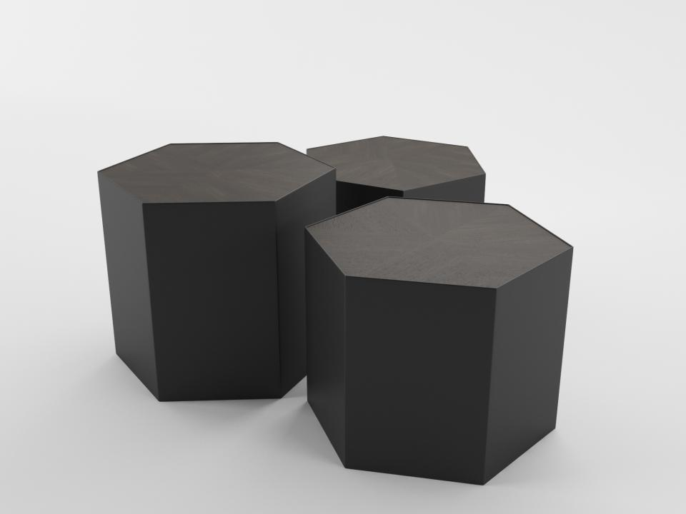 free_crate & barrel geo table 3dmodel