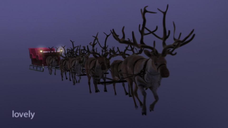 xmas sleigh 3d model turbosquid