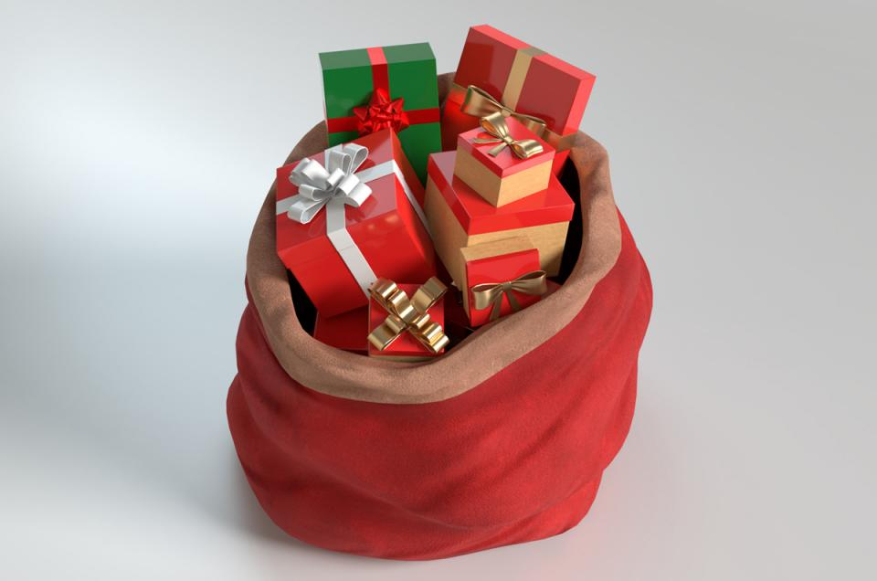 santa bag 3d model turbosquid