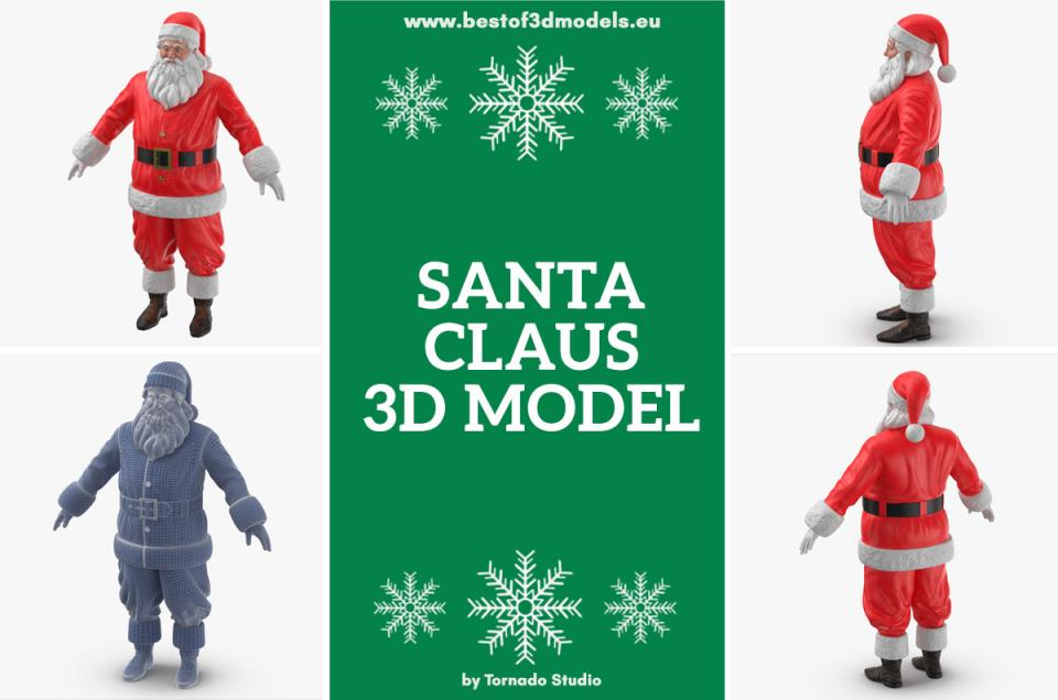 santa 3d model turbosquid