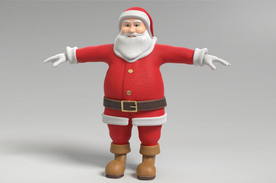 santa claus 3d model turbosquid