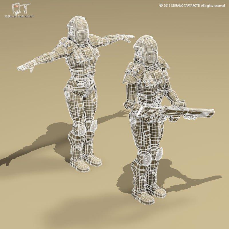 sci-fi robots 3d model 3dexport