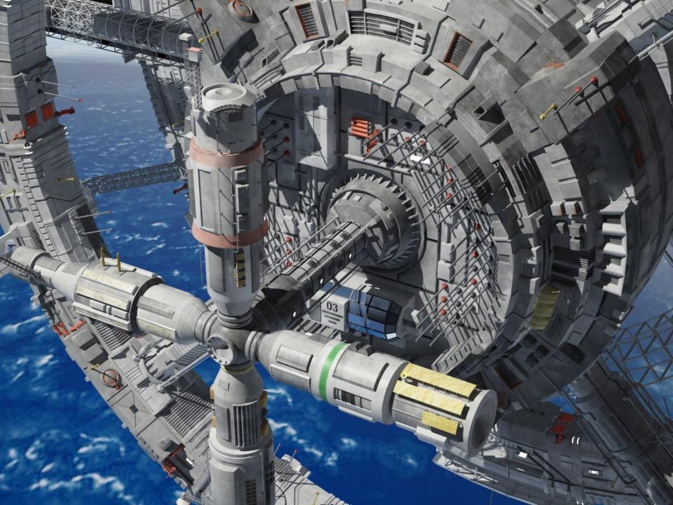 space cylinder 3d model 3dexport