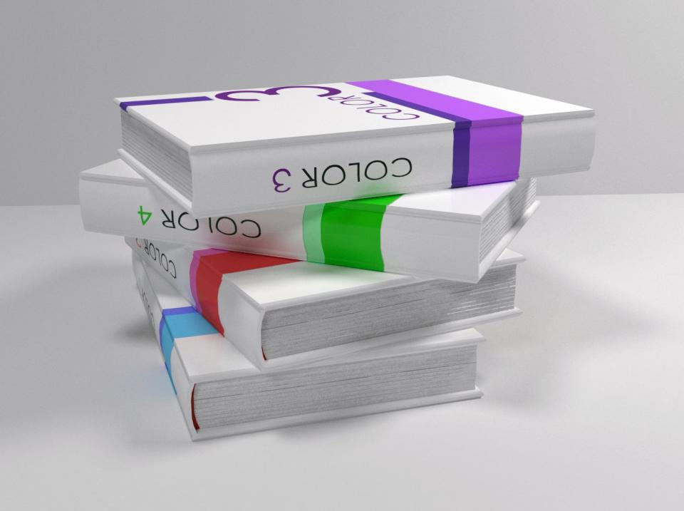 pile of books 3d model
