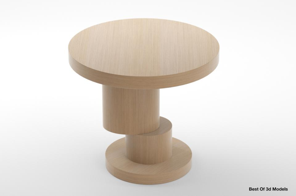 round coffee table holly hunt 3d model