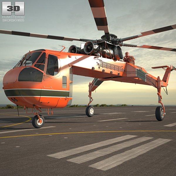 skycrane 3d model 3dexport