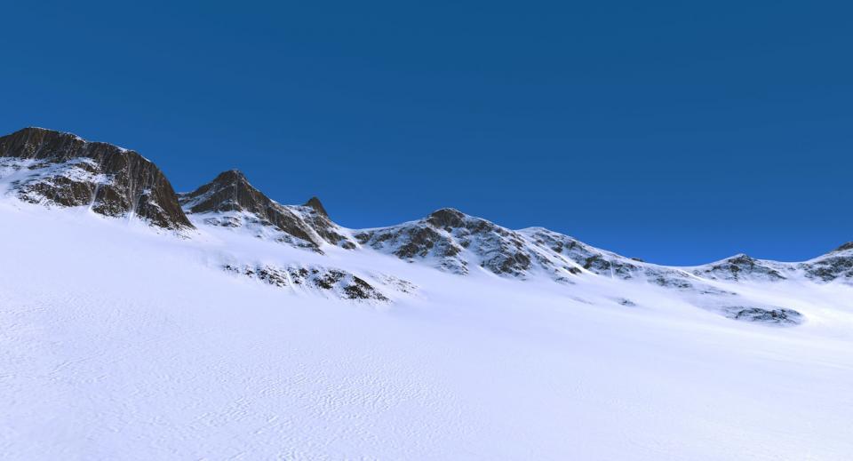 snow mountain landscape 3d model turbosquid