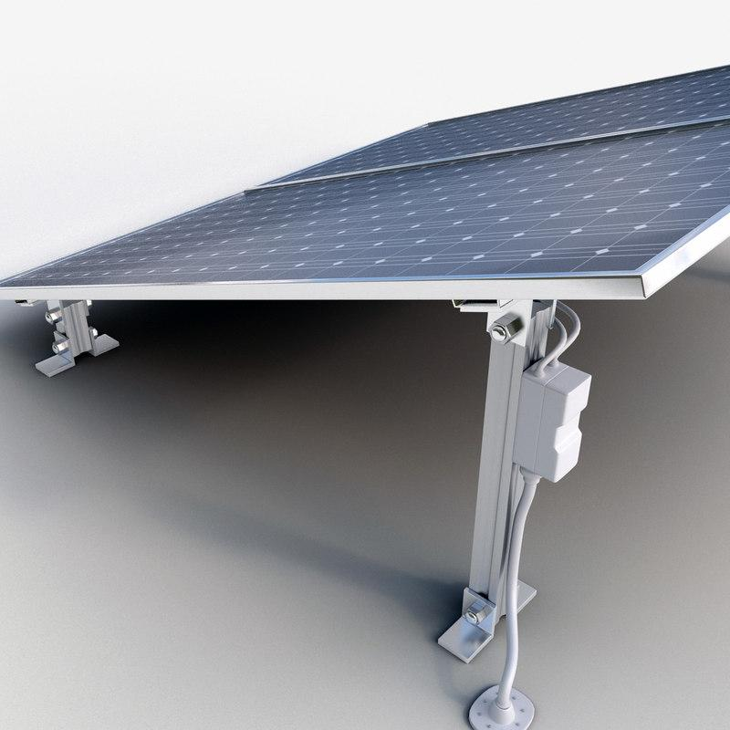 solar energy 3d model turbosquid