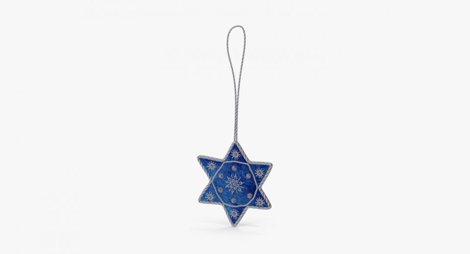 star of david 3d model turbosquid