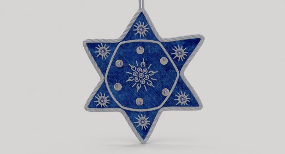 jewish ornament 3d model turbosquid