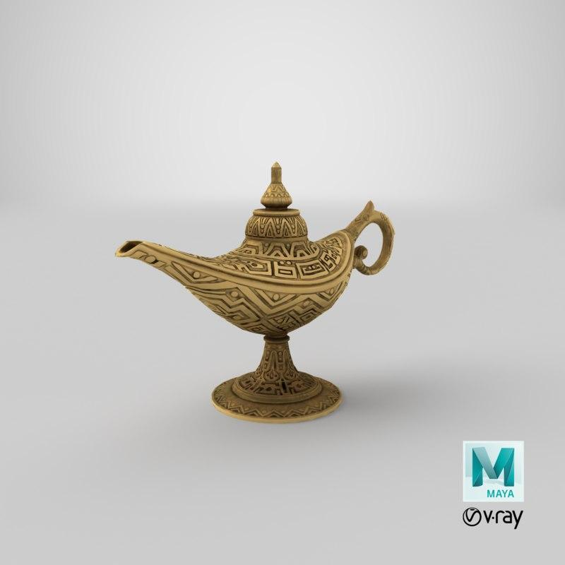 magic lamp 3dsmax 3d model turbosquid