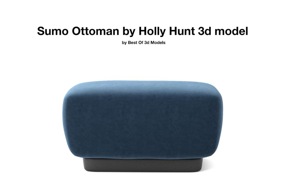 sumo ottoman holly hunt 3d model