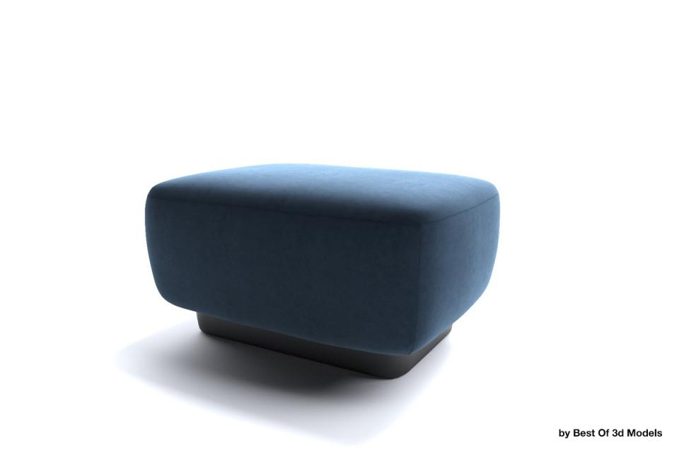 lounge furniture ottoman 3d model holly hunt