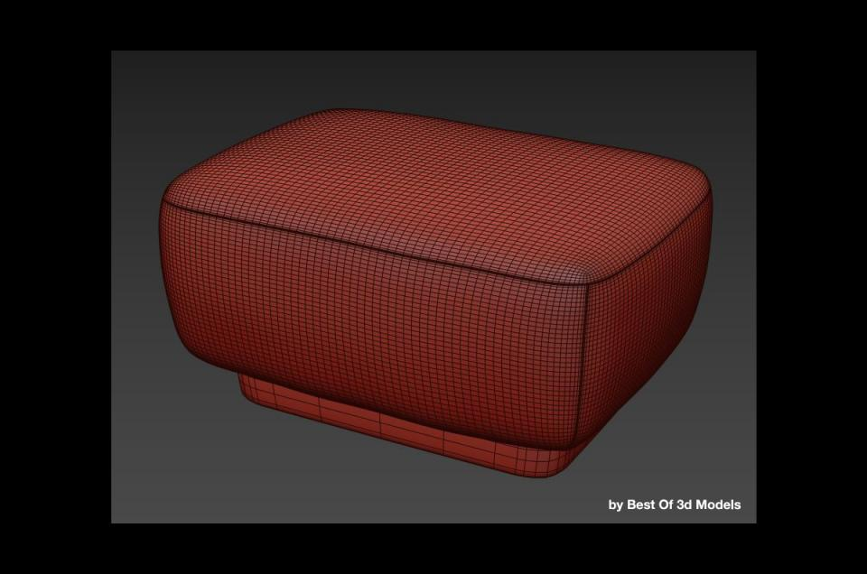 pouffe holly hunt 3d model