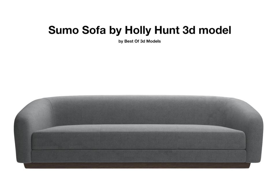 sumo sofa holly hunt 3d model