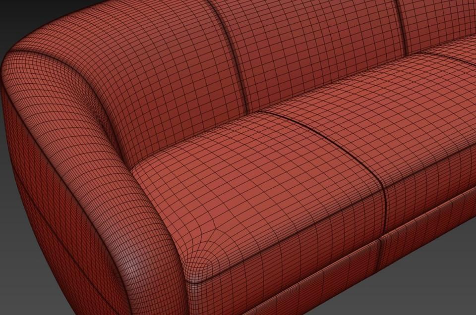3d couch models holly hunt