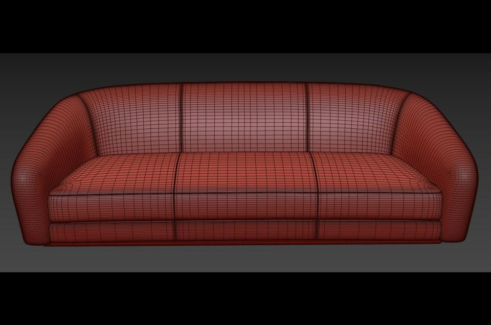 futon 3d model holly hunt