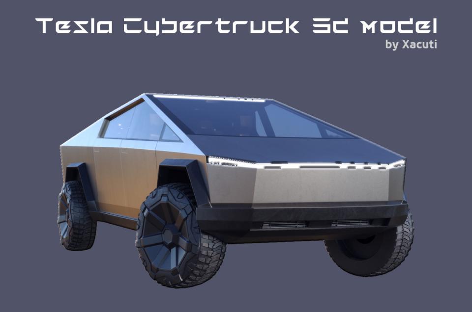 Tesla's new Pickup truck 3d model turbosquid