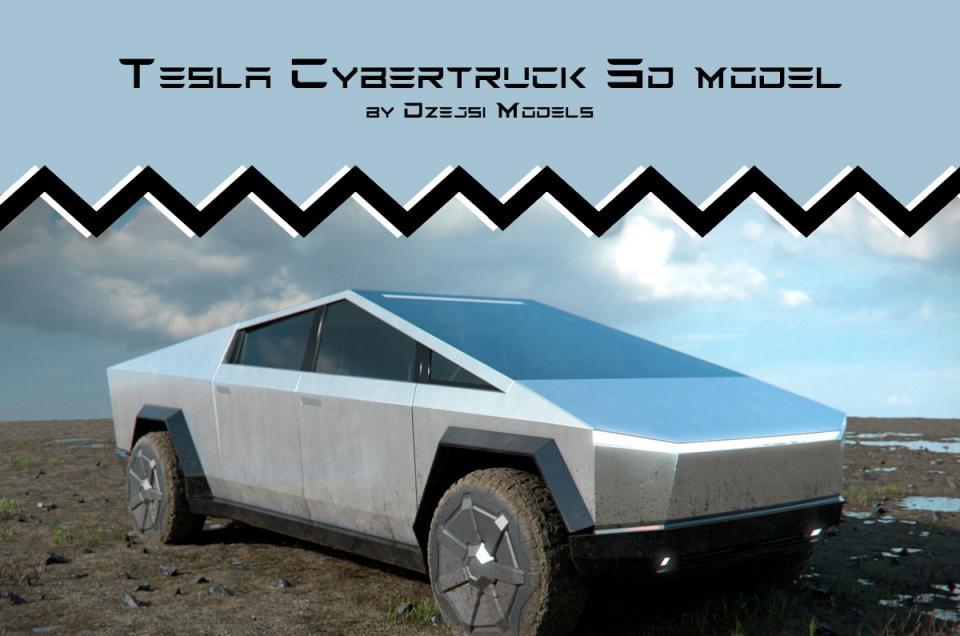 tesla cybertruck 3d model turbosquid