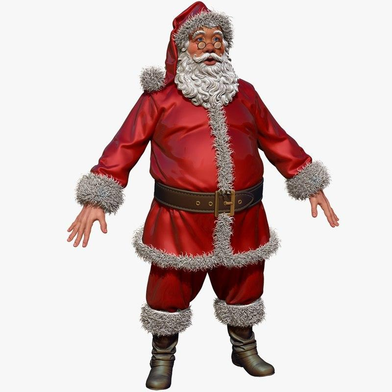 full body santa 3d model turbosquid