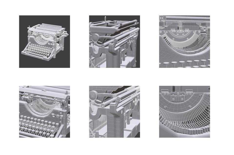 underwood typewriter ribbon 3d model turbosquid