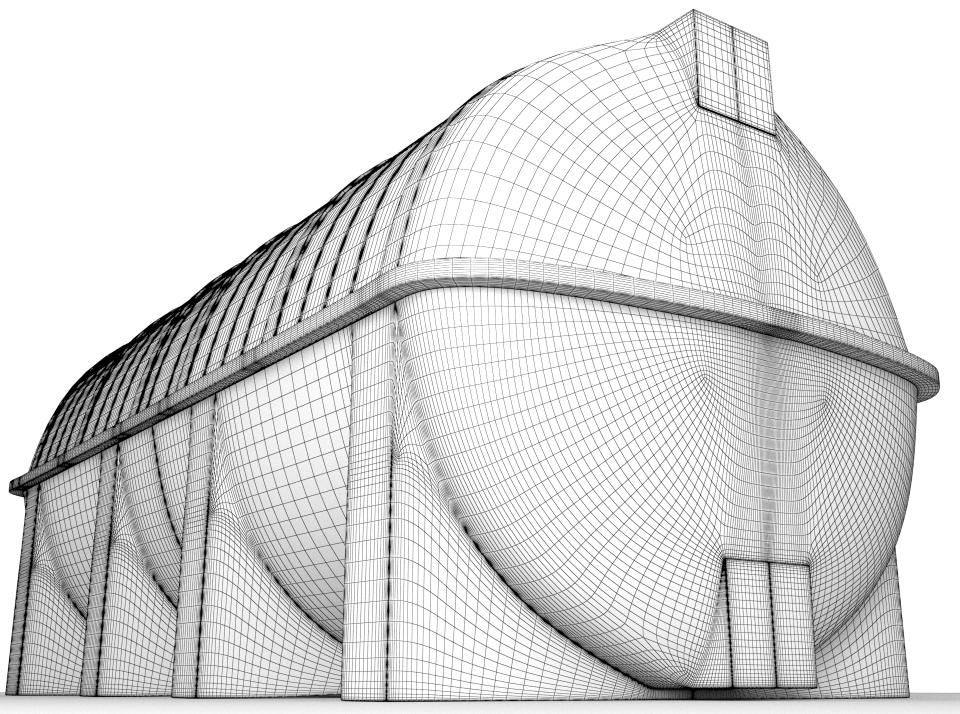 water tank 3d wireframe