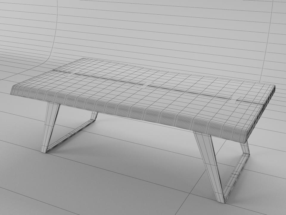 3d model of a wooden table 3dsmax vray