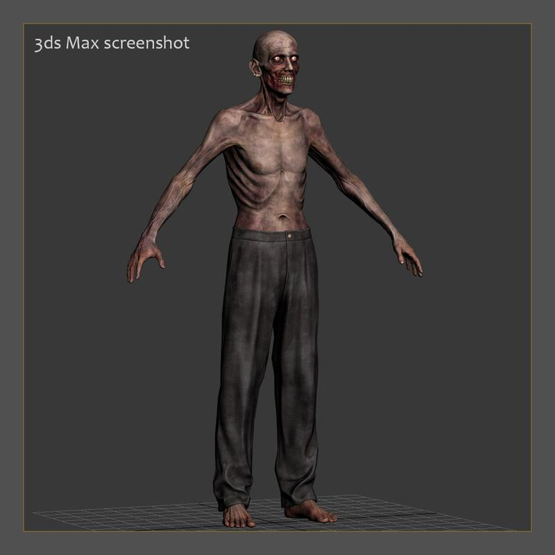 3d model of a zombie