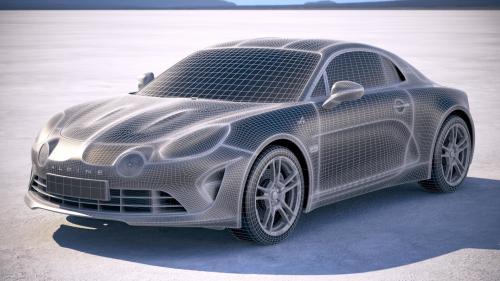 3d model of a blue car
