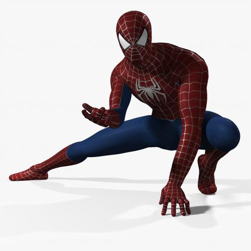 3d model of Spiderman