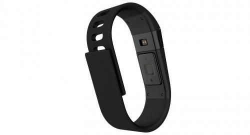 black fitness bracelet 3d model