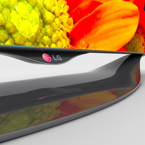 3d models of an lg oled smart tv