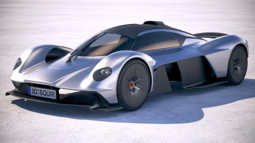 3d model of an Aston Martin car