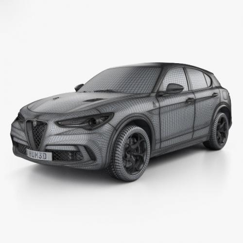 3D model Alfa Romeo Stelvio Quadrifoglio 2018