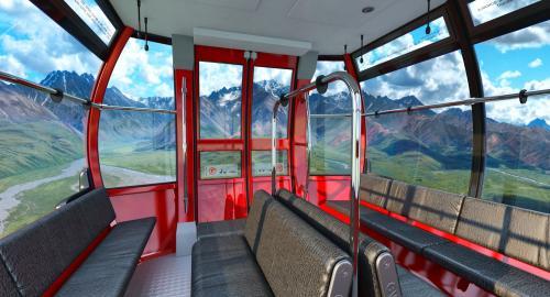 gondola lift 3d model turbosquid