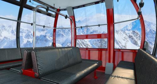 interior cable car 3d model turbosquid