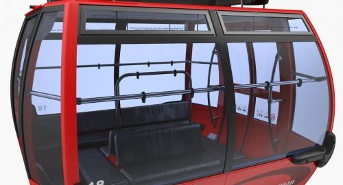 cableway cabin mountain 3d model turbosquid