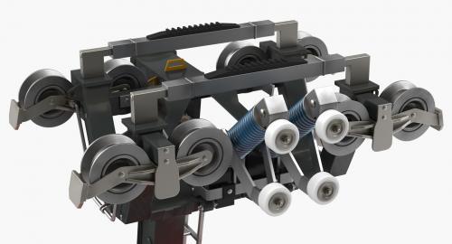 railway motor for cable cabin 3d model turbosquid