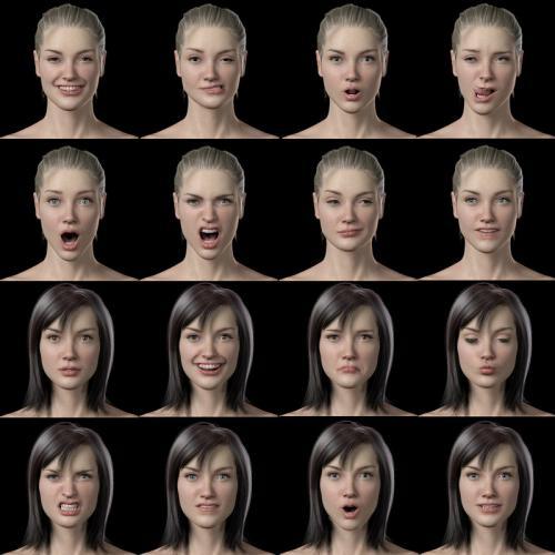 3d model female poses