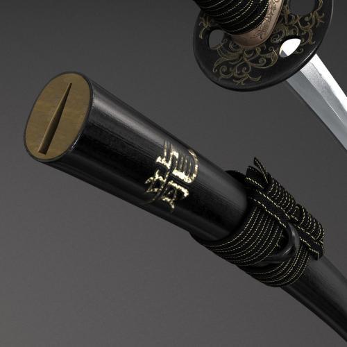 japanese weapon 3d model turbosquid