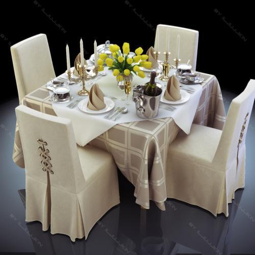 restaurant tableware 3d model turbosquid