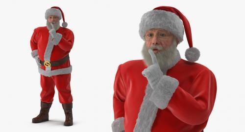 santa claus full costume 3d model turbosquid