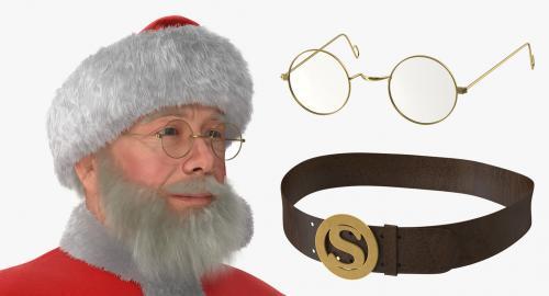 santa claus accessories 3d model turbosquid