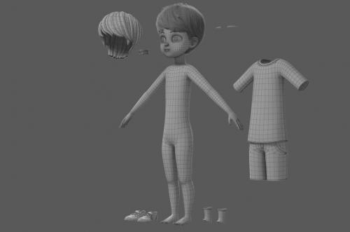 full body kid 3d model maya turbosquid