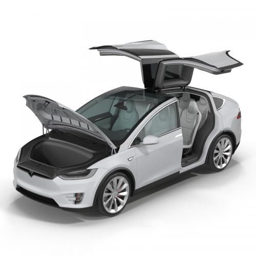 tesla car 3d model turbosquid