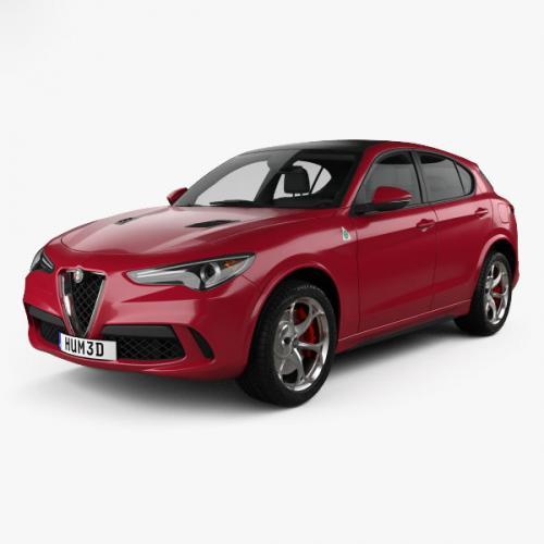 3d model of Alfa Romeo car