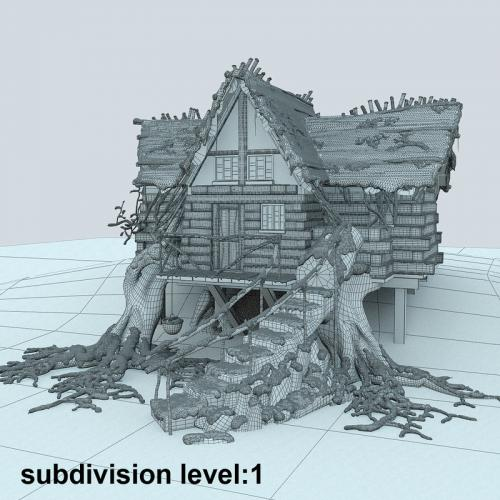 christmas hut 3d model